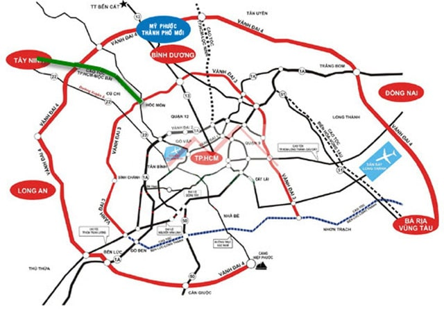 Các tuyến đường Vành Đai TP.HCM
